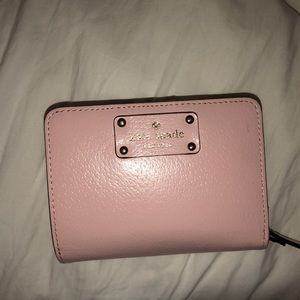 Lightly used light pink Kate Spade chunky wallet
